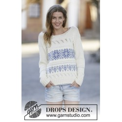 Image of   Delphos by drops design xs-xxxl drops cotton merino garn bluse
