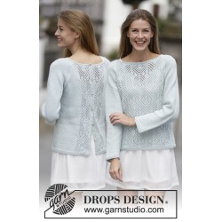 Image of   Blue spring by drops design s-xxxl drops cotton light garn bluse