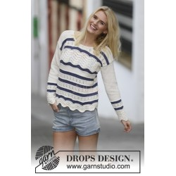 Nautical Waves by DROPS Design S-XXXL DROPS COTTON LIGHT