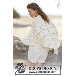 Image of   Summer diamond shawl by drops design one-size drops cotton merino