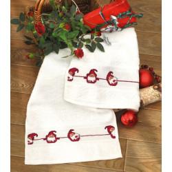 Gæstehåndklæder, Bumlenissen, 2 stk i pk, 30 cm x 50 cm