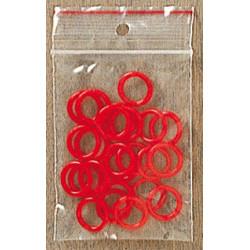 24 røde plast ringe