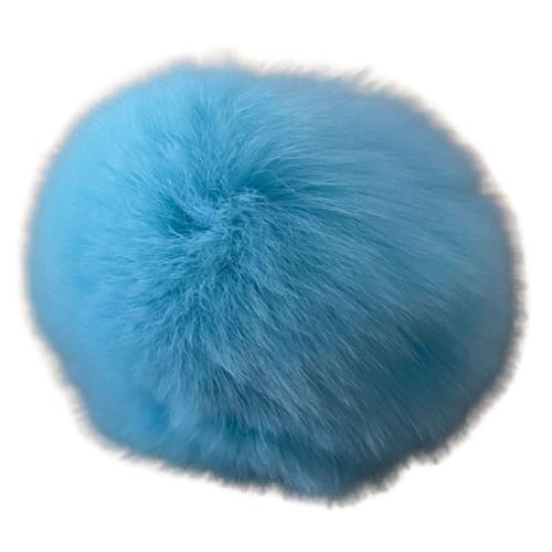 Pompon kanin lyseblå 40 - 60 mm