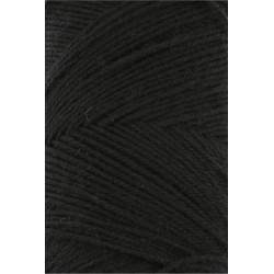 Lang Yarns Jawoll, farve sort, 45g + 5g forstærkningstråd