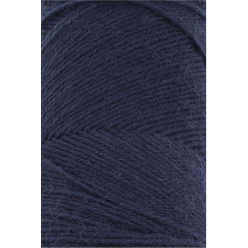 Lang Yarns Jawoll, farve marineblå, 50g + 5g forstrækningstråd