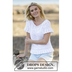 White romance by drops design s-xxxl drops safran garn top