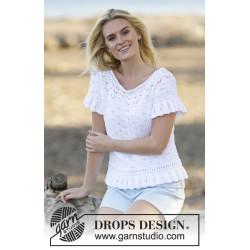 White Romance by DROPS Design S-XXXL DROPS SAFRAN