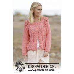Sweet Peach Cardigan by DROPS Design S-XXXL DROPS PARIS