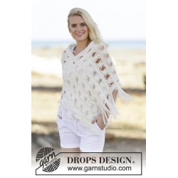 Image of   Late in august by drops design s-xxxl drops cloud garn poncho