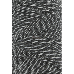 Lang Yarns Jawoll, farve koksgrå/lysegrå mix, 45g + 5g forstærkningstråd