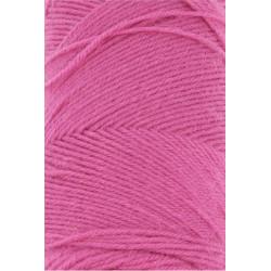 Lang Yarns Jawoll, farve pink, 45g + 5g forstærkningstråd
