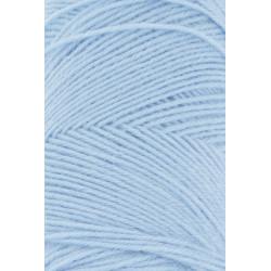 Lang Yarns Jawoll, farve lyseblå, 45g + 5g forstærkningstråd