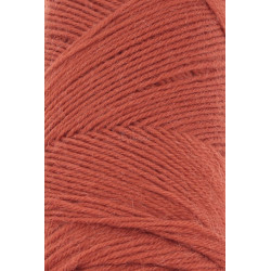 Lang Yarns Jawoll, farve orangebrun, 45g + 5g forstærkningstråd