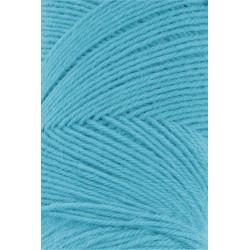 Lang Yarns Jawoll, farve turkis, 45g + 5g forstærkningstråd