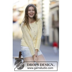 Image of   Angela cardigan by drops design s-xxxl drops muskat garn strikkekits