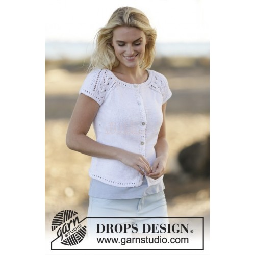 Esther Cardigan by DROPS Design S-XXXL DROPS MUSKAT