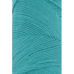 Lang Yarns Jawoll, farve turkis grøn, 45g + 5g forstærkningstråd