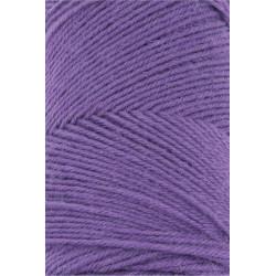 Lang Yarns Jawoll, farve lilla, 45g + 5g forstærkningstråd