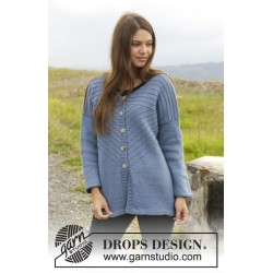 Image of   Lazy sunday afternoon cardigan by drops design s-xxxl drops lima