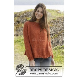 Orange Crush by DROPS Design S-XXXL DROPS NEPAL