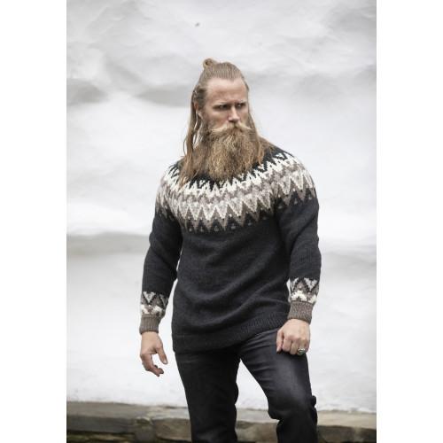 """Solid"" Genser - Viking Design 2127-10A Kit - XS-XXL - Viking Eco Highland Wool"