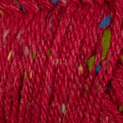 Viking Alpaca Picasso Tweed. Farve 950, Rød