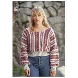 """Dina"" Genser - Viking Design 2128-12 Kit - XXS-XXL - Viking Alpaca Picasso Tweed og Viking Kid-Silk"
