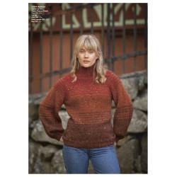 """Autumn"" Genser - Viking Design 2128-4 Kit - XXS-XXXL - Viking Alpaca Picasso Tweed og Viking Kid-Silk"
