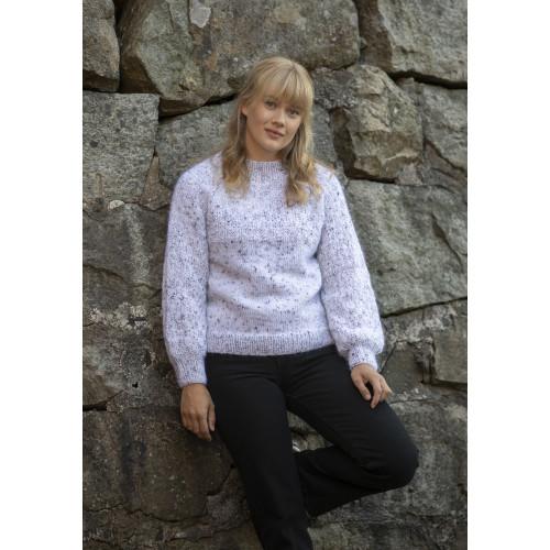 """Aluna"" Genser - Viking Design 2128-8 Kit - XXS-XXXL - Viking Alpaca Picasso Tweed og Viking Kid-Silk"