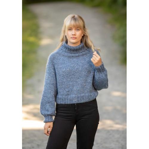 """Debby"" Genser - Viking Design 2128-3 Kit - XS-XXL - Viking Alpaca Picasso Tweed og Viking Kid-Silk"