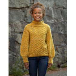 """""""Neva"""" Genser - Viking Design 2128-7 Kit - 2-12 År - Viking Alpaca Picasso Tweed og Viking Kid-Silk"""