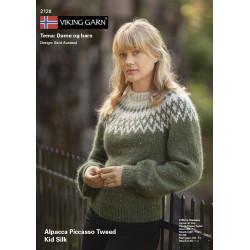 Viking katalog 2128 - Piger og damer, Viking Alpaca Picasso Tweed og Viking Kid-Silk