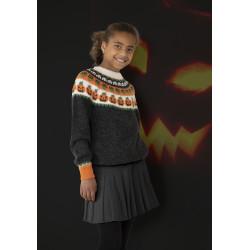 """""""Halloween"""" Genser og hue - Viking Design 2131-2 Kit - 2-12 År - Viking Alpaca Storm"""