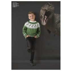 """""""Dino"""" Genser og hue - Viking Design 2131-6 Kit - 2-12 År - Viking Alpaca Storm"""