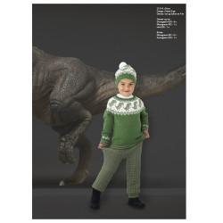 """""""Dino"""" Genser, bukser og hue - Viking Design 2131-6A Kit - 2-12 År - Viking Alpaca Storm"""