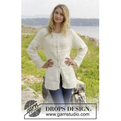 Image of   Elinor dashwood cardigan by drops design s-xxxl drops alaska garn
