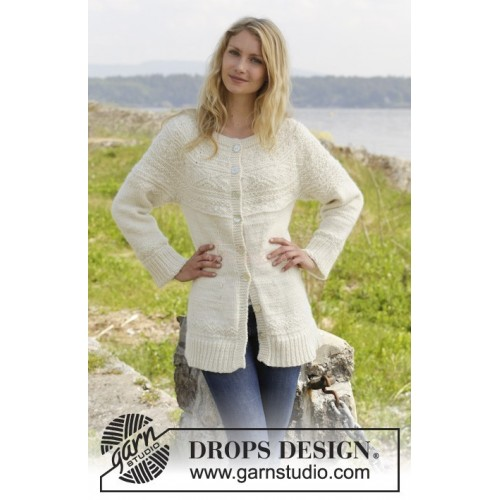 Elinor Dashwood Cardigan by DROPS Design S-XXXL DROPS ALASKA