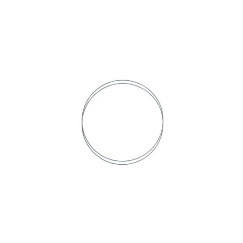 Metalringe rund , 2 stk, 15cm, grå