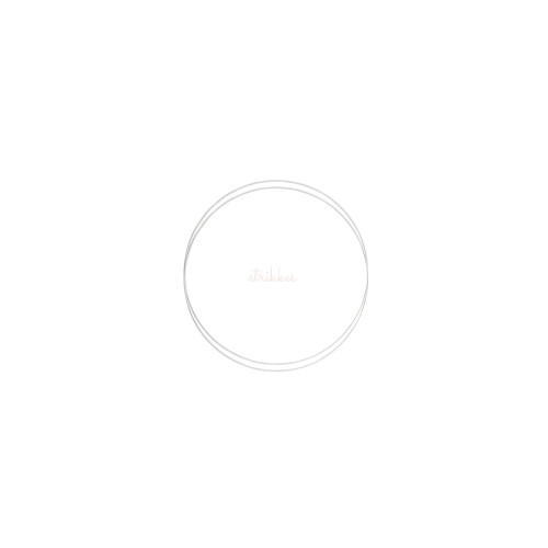 Metalringe rund , 2 stk, 15cm, hvid