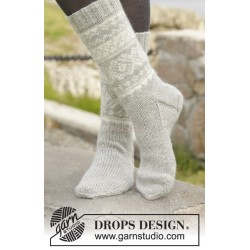 Silver Dream Socks by DROPS Design 35-46 DROPS KARISMA