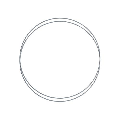 Metalringe rund , 2 stk, 30cm, grå