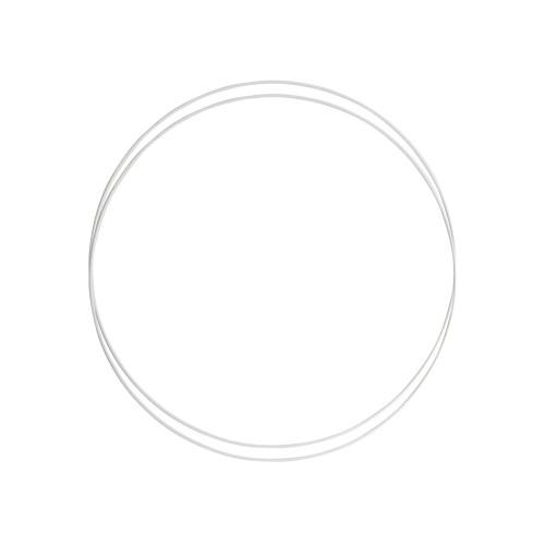 Metalringe rund , 2 stk, 30cm, hvid