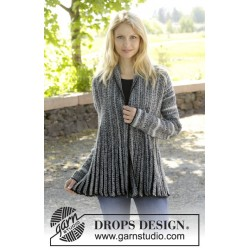 Image of   Dragonfly by drops design s-xxxl drops fabel garn cardigan