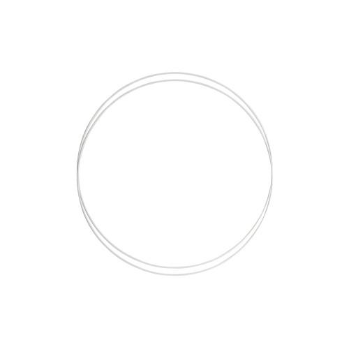Metalringe rund , 2 stk, 25cm, hvid