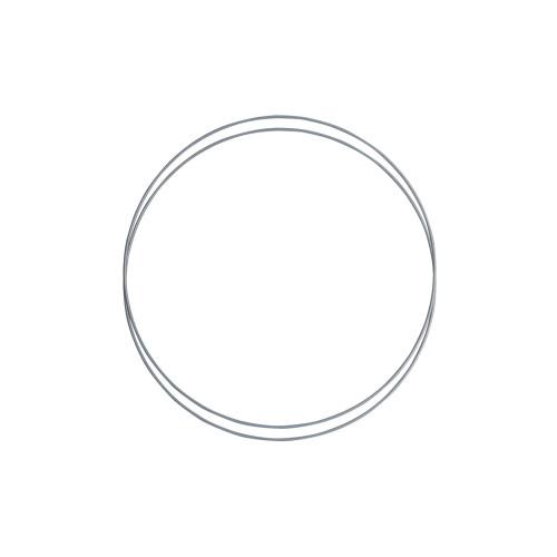 Metalringe rund , 2 stk, 25cm, grå