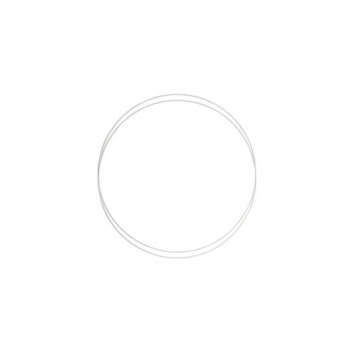 Metalringe rund , 2 stk, 20cm, hvid
