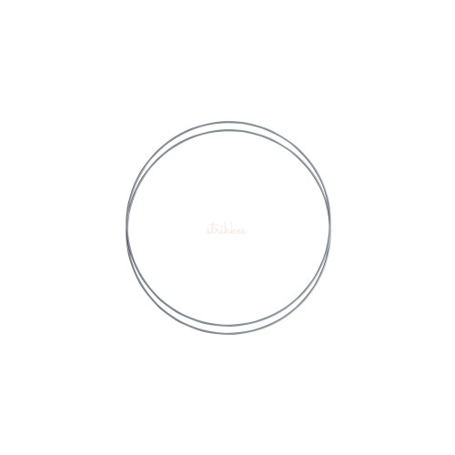 Metalringe rund , 2 stk, 20cm, grå
