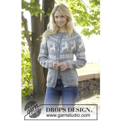Silver Stag Cardigan by DROPS Design S-XXXL DROPS KARISMA