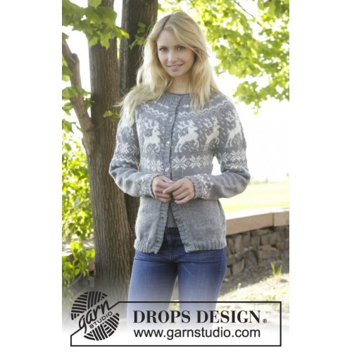 Silver Stag Cardigan by DROPS Design S-XXXL DROPS KARISMA