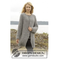 Image of   Day after day cardigan by drops design s-xxxl drops cloud garn